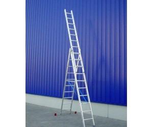 Trojdielne univerzálne rebríky profi plus