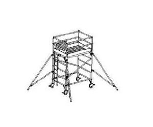 WPK rozmer podlážky 1,35 x 2,0 m pracovná výška 4,5 m