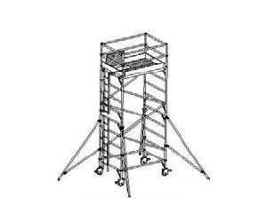 WPK rozmer podlážky 1,35 x 2,0 m pracovná výška 6,5 m